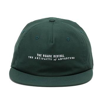 COTTON LOGO CAP w/LEATHER CLOSURE