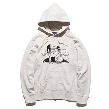 """FRIED"" P/O HOODED L/W SWEAT"