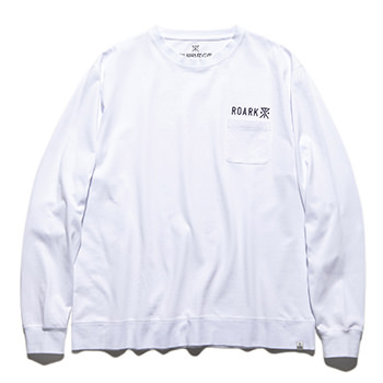 """LOGO"" 9.3oz H/W L/S POCKET TEE"