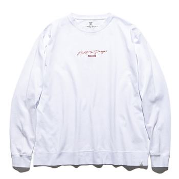"""NORTH TO DANGER"" 9.3oz H/W L/S TEE"