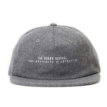 WOOL LOGO CAP w/LEATHER CLOSURE