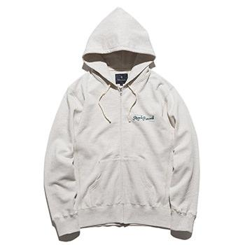 """DEADBEATS"" F/Z HOODED L/W SWEAT"