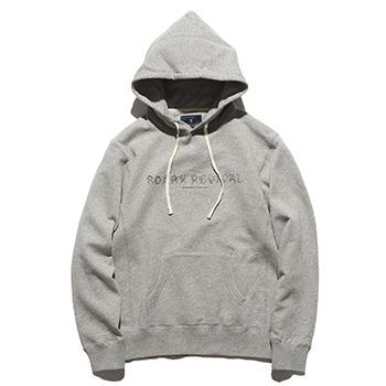 """HORN&BONE"" P/O HOODED L/W SWEAT"