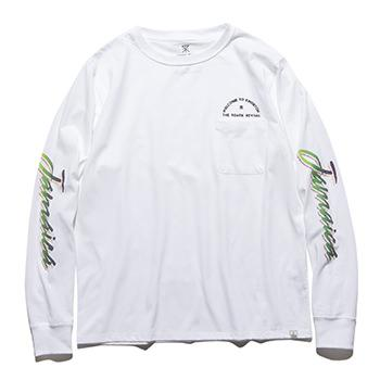 """ACCIDENTAL TOURIST"" L/S POCKET TEE"
