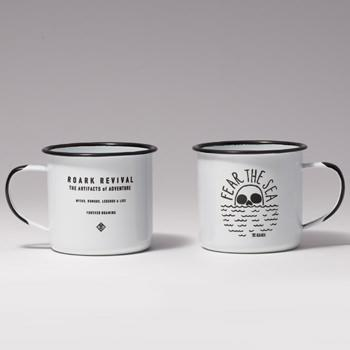 """FEAR THE SEA""ENAMEL MUG"