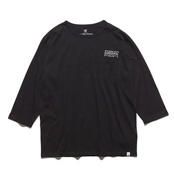 """INSCRIPTION"" 3/4 SLEEVE POCKET TEE"